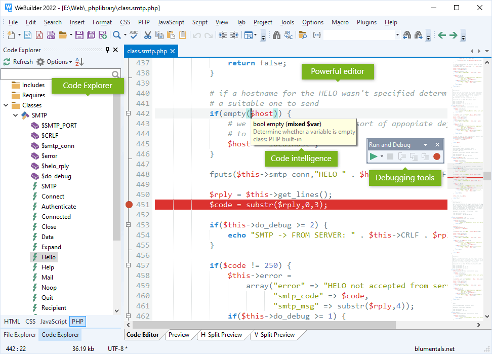 WeBuilder - code editor for HTML, CSS, JavaScript, PHP, ASP, Ruby